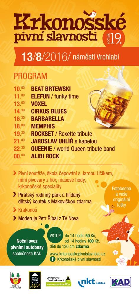 info obrázek k novince 19. ročník Krkonošských pivních slavností