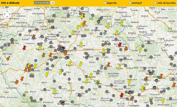 pivní mapa uživatele
